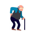 old man is having back pain senior injury health vector image
