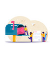 people write and send letters through mailbox vector image vector image