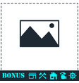 photograph icon flat vector image vector image