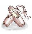 pink ballerina shoes ballet pointe shoes with vector image vector image