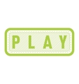 Play button isolated vector image