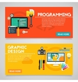 Programming and Graphic Design Concept Banners vector image vector image