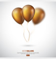 realistic 3d glossy golden ballons vector image vector image