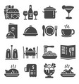 restaurant icon set suitable for info graphics vector image