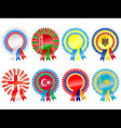 rosettes to represent eastern european countries i vector image vector image