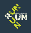 run run runl t-shirt and apparel design with vector image