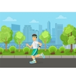 Runner men running on the street city park concept vector image vector image