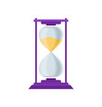 sand hourglass sandglass device for measuring vector image