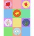 Seamless cartoon flowers vector image
