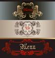 set of antique menu designs luxury style vector image vector image