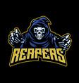 skull grim reaper mascot vector image vector image