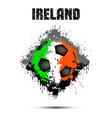 soccer ball in the color of ireland vector image vector image