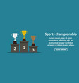 sports championship banner horizontal concept vector image
