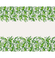 stylized leaves and branches vector image vector image