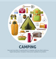 summer camping and forest camp poster vector image vector image