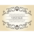 vector vintage royal retro frame ornament decor te vector image vector image