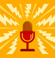 vintage red microphone vector image vector image