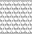 white and grey cubes pattern seamless background vector image vector image