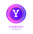 y letter logo design y icon colorful and modern vector image