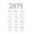 Cute doodle calendar 2014 vector image