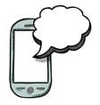 cartoon image of message icon sms symbol vector image