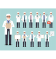 Senior doctor medical and hospital staff characte vector image