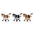 Abstract cow collection vector image