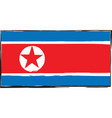 abstract north korea flag or banner vector image vector image