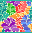 abstract vibrant hippi 60s seamless pattern vector image vector image