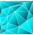abstract vitrage - triangular shades of azure grid vector image vector image