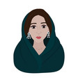 beautiful arabic woman vector image