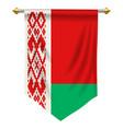 belarus pennant vector image