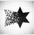 black star and polygon destruction vector image