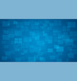 blue shiny squares shapes technical background vector image vector image