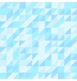 Blue triangle seamless pattern Geometric vector image vector image