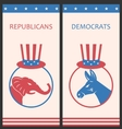 brochures for advertise united states political vector image