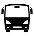 bus black icon large vehicle for passengers vector image