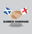 Business Handshake Scotland and England vector image
