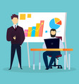 business meeting conference and finance graphics vector image vector image