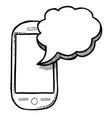 cartoon image of message icon sms symbol vector image