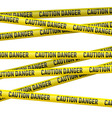 Caution and danger yellow tape vector image vector image