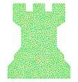 chess tower mosaic of dots vector image vector image