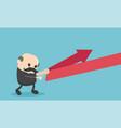 chief businessman reflection arrow vector image vector image