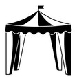 circus tent icon simple style vector image
