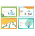cloud storage mobile technologies concept web page vector image vector image