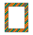colored mosaic frame vector image vector image