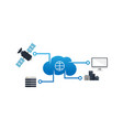 computer internet cloud networking wide area vector image