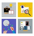 Concept set for business vector image vector image