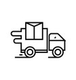 delivery truck line icon concept sign outline vector image