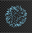 firework blue sparkle isolated transparent vector image vector image